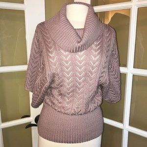 Dress Barn Cowl Neck Short Sleeve Sweater